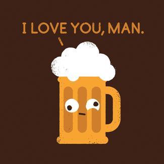 Beer I Love You Man Coaster