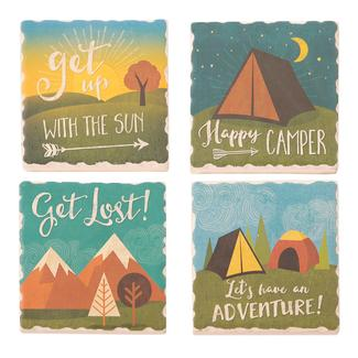 Let's Go Camping Coasters – 4 Pack