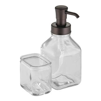 Cora Soap Pump Caddy, Clear/Bronze
