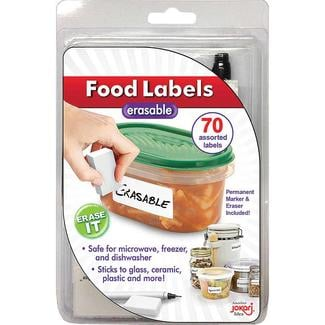 Erasable Food Labels