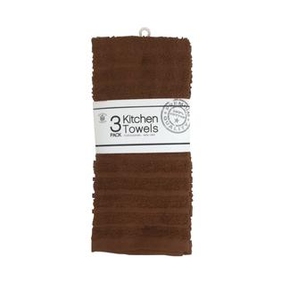 Kitchen Towels, Brown – 3 Pack