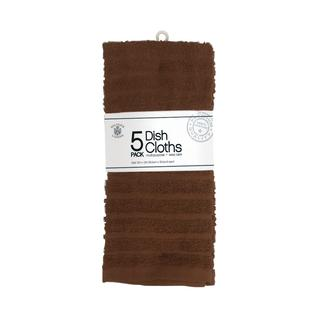 Dish Cloths, Brown – 5 Pack
