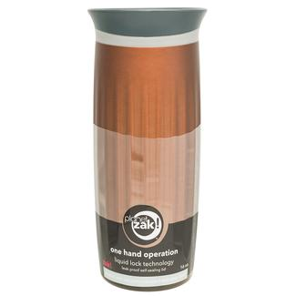 Fluted Stainless Steel Vacuum Tumbler, 16 oz, Chestnut