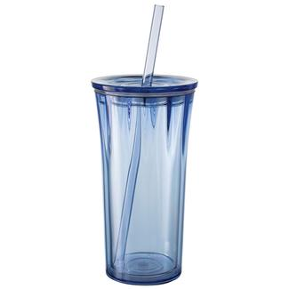 Clarion 20 oz. Tumbler with Straw, Periwinkle