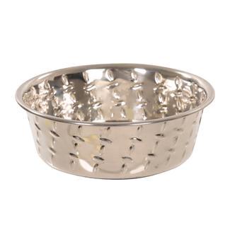 Ruff 'N Tuff Diamond Plate Dog Bowls, 1 Pint