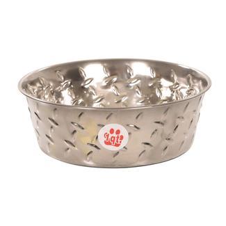 Ruff 'N Tuff Diamond Plate Dog Bowls, 1 Quart