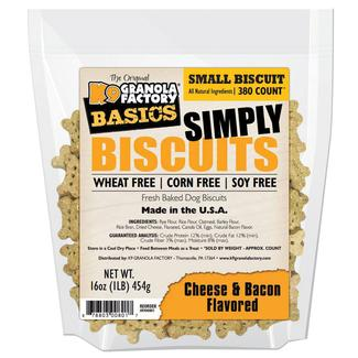 Simply Biscuits Small Cheese & Bacon Dog Treats, 16 oz. Bag
