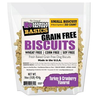 Small Turkey & Cranberry Grain Free Biscuits, 16 oz. Bag