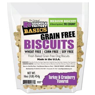 Grain Free Turkey Cranberry Dog Biscuits, 16 oz. Bag