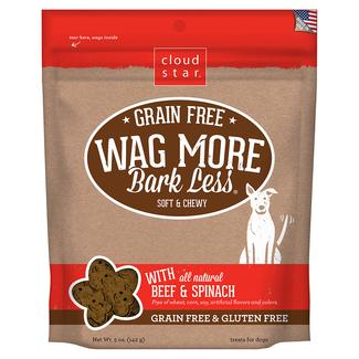 Wag More Grain Free Beef & Spinach Treats, 5 oz.