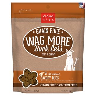 Wag More Grain Free Savory Duck Soft Chewy Treats, 5 oz.