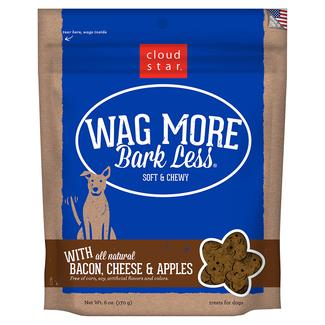 Wag More Soft Chewy Bacon, Cheese & Apple Treats, 6 oz.