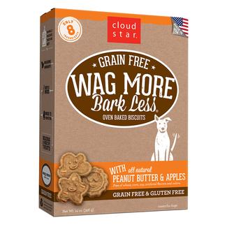 Wag More Oven Baked Grain Free Peanut Butter & Apple Biscuits, 14 oz.