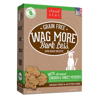 Wag More Oven Baked Grain Free Chicken & Sweet Potato Biscuits, 14 oz.