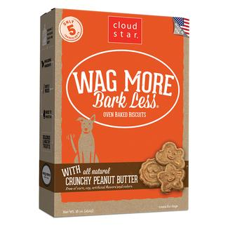 Wag More Crunchy Peanut Butter Oven Baked Biscuits, 16 oz.