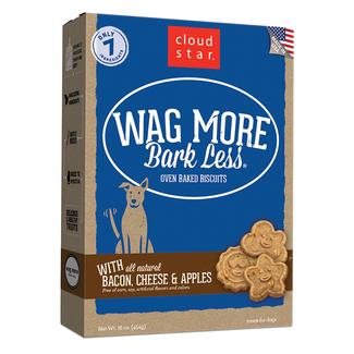Wag More Bacon, Cheese & Apples Oven Baked Biscuits, 16 oz.