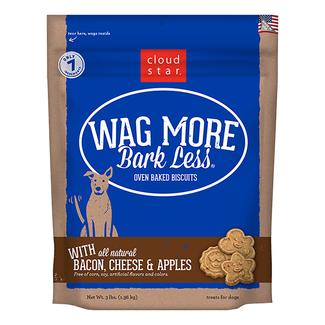 Wag More Oven Baked Bacon, Cheese & Apple Biscuits, 3 lb. Bag