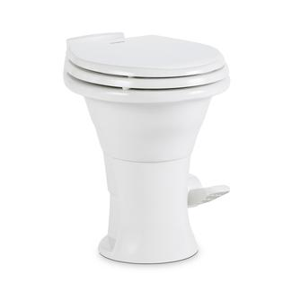 "Dometic 310 Series Low Profile Gravity Discharge Toilet, White, 13.75""H"