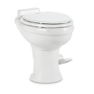 Dometic Ceramic 18&quot&#x3b; 310 Series RV Toilet With Hand Sprayer, White