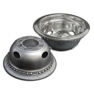 Stainless Steel Wheel Simulators &amp&#x3b; Covers, 16&quot&#x3b;, Set of 4