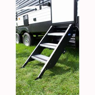 Outside rv tools ramps ladders camping world stepabove by morryde 3 steps 26 27 door eventshaper
