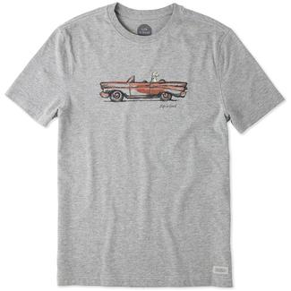 Life is Good Men's Crusin' Dog Crusher Tee, Large