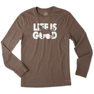Life is Good Men's Long Sleeve Fetch Crusher Tee, XXLarge