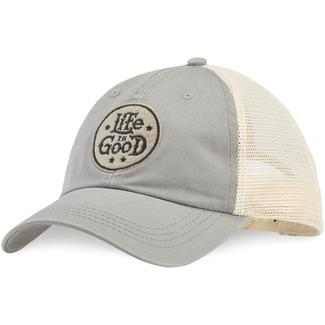 Life is Good Stacked Circle Soft Mesh Back Chill Cap
