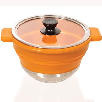 Flat Fit Collapsible Cookware, 6 Qt. Pot