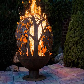 Blowing Leaf Fire Globe, Extra Large