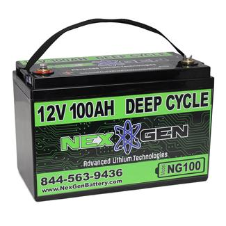 Nexgen 12V Lithium Ion Battery - 12V 100AH Replacement
