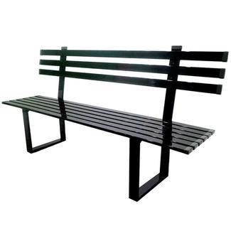Black Powder Coated Aluminum Bench, 6'