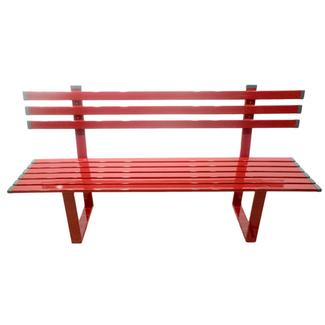 Red Powder Coated Aluminum Bench, 6'