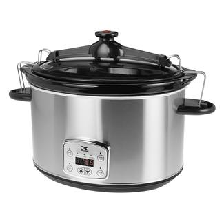 Kalorik Stainless Steel 8 Qt. Digital Slow Cooker with Locking Lid