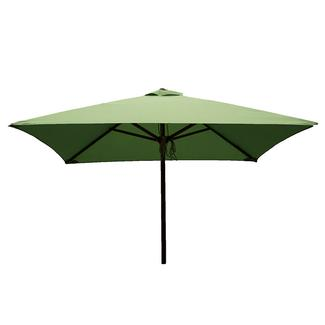 Classic Wood Square Patio Umbrella - Lime, 6.5'
