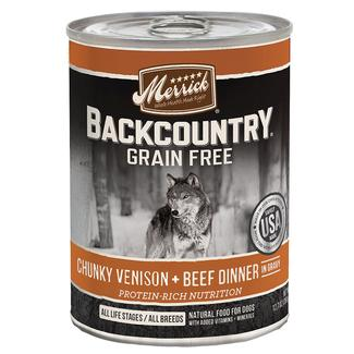 Merrick Backcountry Pet Food, Chunky Venison & Beef