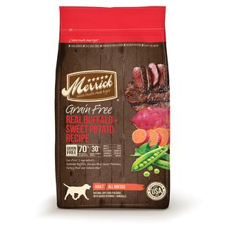 Merrick Grain Free Dog Food, Buffalo, 12 lb. Bag