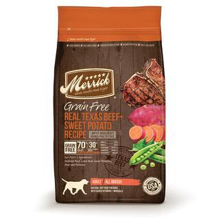 Merrick Grain Free Pet Food, Texas Beef, 4 lb. Bag