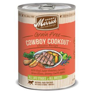 Merrick Grain Free Classic Pet Food Cowboy Cookout