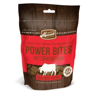 Merrick Power Bites Treats for Dogs, Beef, 6 oz.