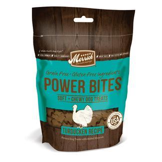 Merrick Power Bites Treats for Dogs, Turducken, 6 oz.