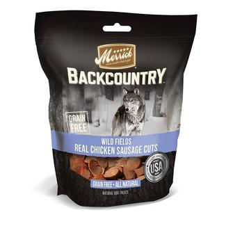 Merrick Backcountry Treats for Dogs, Wild Fields, Real Chicken & Sausage
