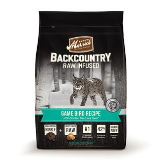 Merrick Backcountry Food for Cats, Game Bird, 3 lbs.