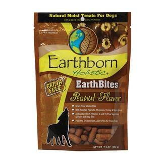 EarthBites Grain Free Dog Treats, 7.5 oz. Resealable Bag, Peanut