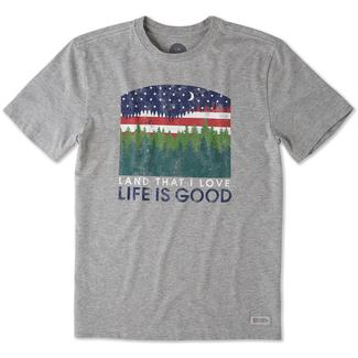 Men's Life Is Good® Land I Love Tee, Gray, Large