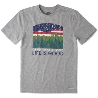 Men's Life Is Good® Land I Love Tee, Gray, XL