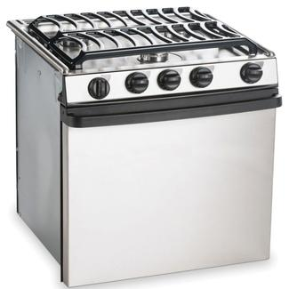 "Dometic Atwood Stainless Steel 3-Burner Ranges, 17"" Range"