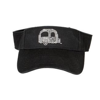 Women's Rhinestone Decorated Cap, Black