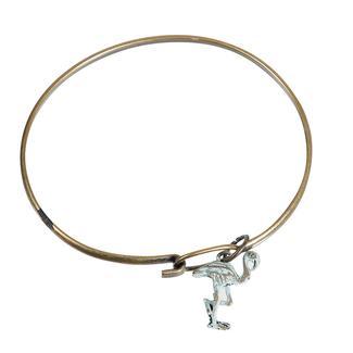 Travel Theme Bracelets, Flamingo, Sea Glass