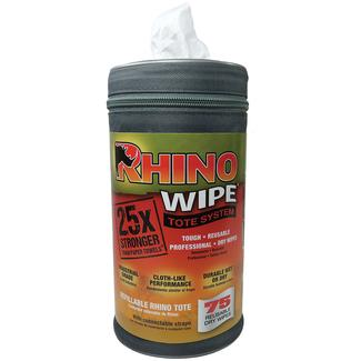 Rhino Wipes with Tote, 75 Count